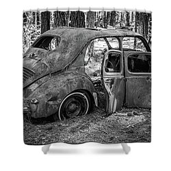 Junked Cars Shower Curtain