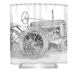 Junked Johnny Shower Curtain