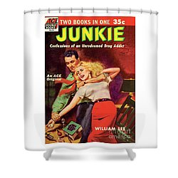 Shower Curtain featuring the painting Junkie by Al Rossi