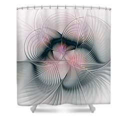 Junos Mercy - Fractal Art Shower Curtain by NirvanaBlues