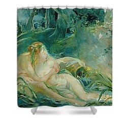 Jupiter And Callisto Shower Curtain by Berthe Morisot