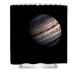 Jupiter And It 4 Major Moons Shower Curtain