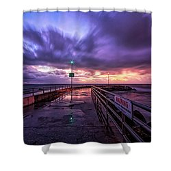 Jupiter Inlet Jetty Shower Curtain