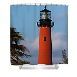 Jupiter Inlet Lighthouse Shower Curtain