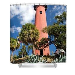 Jupiter Lighthouse II Shower Curtain