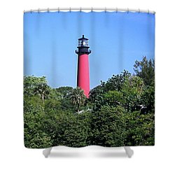Jupiter Lighthouse Shower Curtain by Sally Weigand