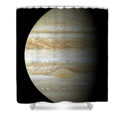 Jupiter Mosiac Shower Curtain by Stocktrek Images
