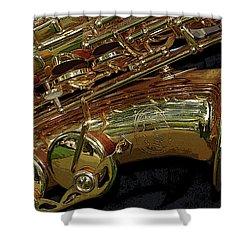 Jupiter Saxophone Shower Curtain