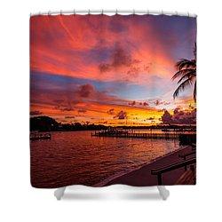 Jupiter Sunrise Shower Curtain