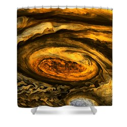 Jupiter's Storms. Shower Curtain