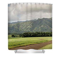 Jurassic Kahili Ranch Panorama Shower Curtain