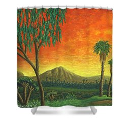 Jurassic Park Blvd 01 Shower Curtain