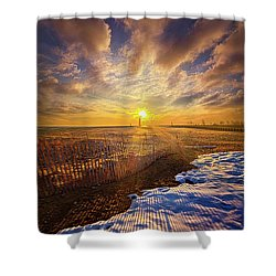 Shower Curtain featuring the photograph Just A Bit More To Go by Phil Koch