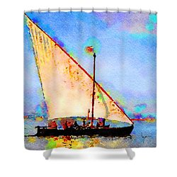 Shower Curtain featuring the painting Just A Lazy Afternoon by Angela Treat Lyon