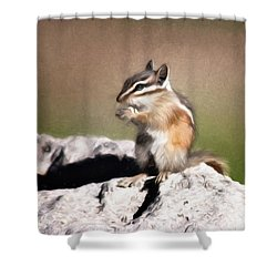 Shower Curtain featuring the photograph Just A Little Nibble by Lana Trussell