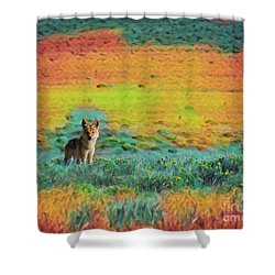 Just A Pup Shower Curtain