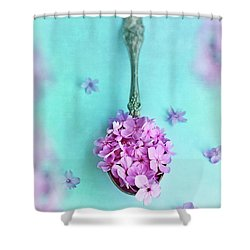 Just A Spoonful Of Petals  Shower Curtain
