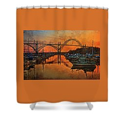 Just After Sunset On Yaquina Bay Shower Curtain