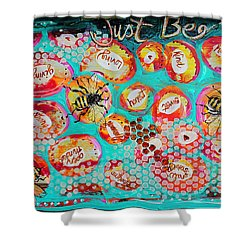 Just Bee Shower Curtain by DAKRI Sinclair
