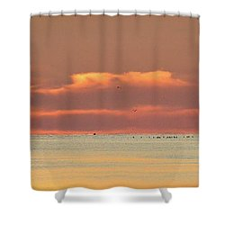 Just Before Sunrise 2  Shower Curtain