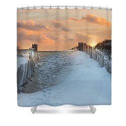 Shower Curtain featuring the photograph Just Beyond by Robin-Lee Vieira
