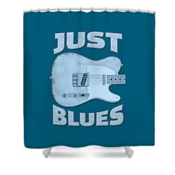 Just Blues Shirt Shower Curtain