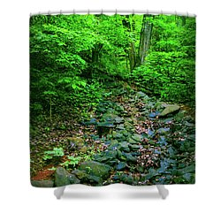 Just Breath Shower Curtain by Laura DAddona