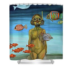 Just Breathe Shower Curtain by Leah Saulnier The Painting Maniac
