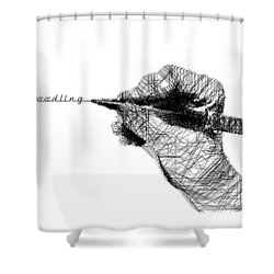 Just Doodling Shower Curtain