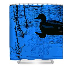 Just Floating Along Shower Curtain by John Rossman