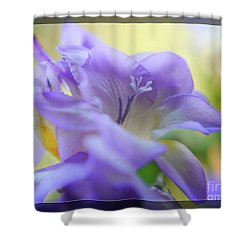 Shower Curtain featuring the photograph Just Freesia's by Lance Sheridan-Peel