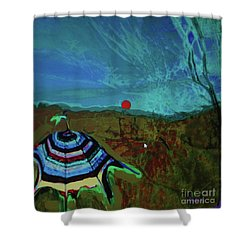 Fauve Just Glamping Shower Curtain