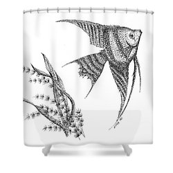 Just Glide Like An Angel Shower Curtain
