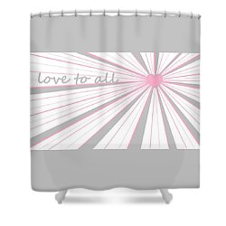 Just Hearts 5 Shower Curtain by Linda Velasquez