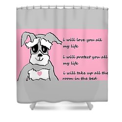 Just Hearts 6 Shower Curtain by Linda Velasquez