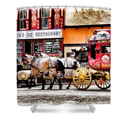 Shower Curtain featuring the photograph Just Horsin Around by Lana Trussell