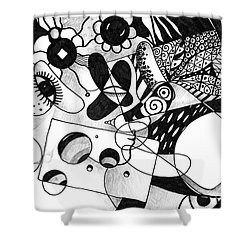 Just In Time Shower Curtain by Helena Tiainen