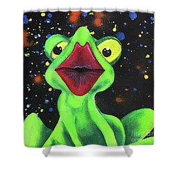 Just Kiss Me Shower Curtain