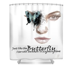 Just Like The Butterfly Shower Curtain