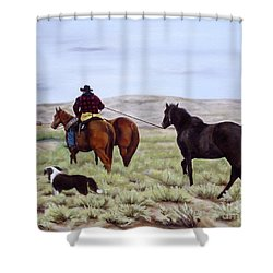 Just Might Rain Shower Curtain by Mary Rogers