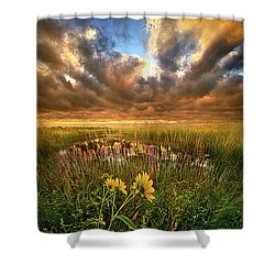 Just Moving Slow Shower Curtain