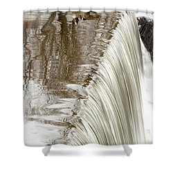 Just On The Edge Shower Curtain by Karol Livote