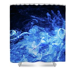 Just Passing By - Blue Art Photography Shower Curtain