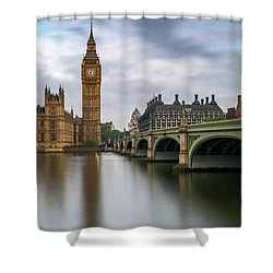 Just Past Six Shower Curtain