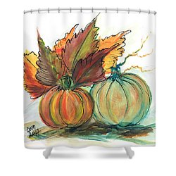 Just Pumpkins Shower Curtain
