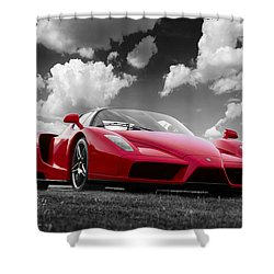 Just Red 1 2002 Enzo Ferrari Shower Curtain