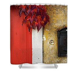 Just Red Shower Curtain