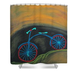 Just Roamin Shower Curtain by Sharyn Winters