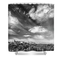 Shower Curtain featuring the photograph Just The Clouds by Jon Glaser
