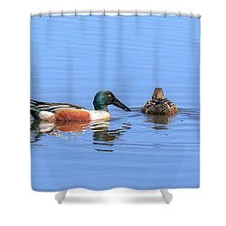 Just The Two Of Us. Shower Curtain by Allan Levin